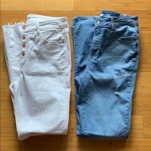 Old navy rockstar skinny jeans. NWOT Bundle 8 tall
